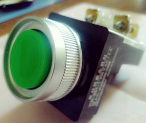 Nút nhấn đèn led ø30 màu xanh CR-304-A0XA Hanyoung