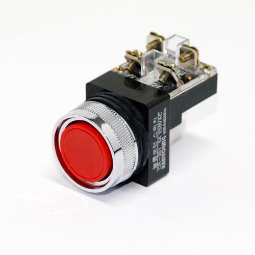 Nút nhấn không đèn Ø30 màu đỏ CR-301-1DO Hanyoung